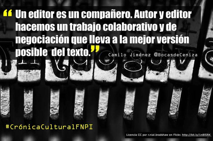 Camilo Jiménez es el editor de las historias de Medellín que crean hace un par de semanas los periodistas participantes en el Taller de Periodismo Cultural. Para él, autor y editor deben pasar, una y otra vez, en colaboración, todas las reflexiones acerca del texto por el tamiz de la lectura y la escritura.