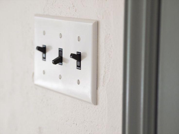 スイッチ/アメリカンスイッチ/白/黒/インテリア/注文住宅/ジャストの家/american switch/natural/interior/house/homedecor
