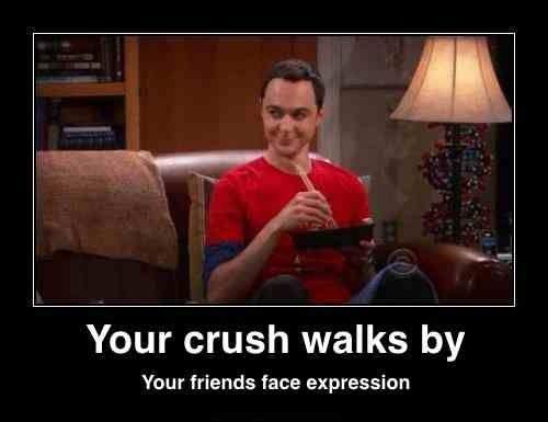 Haha soooooo true!!! Sometimes its my facial expression when he walks by! Tehe! :)