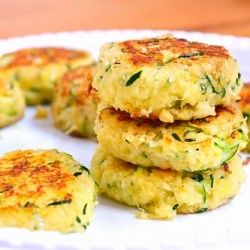 Healthy and delicious zucchini cakes