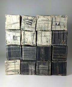 "Pile of Blocks stoneware 12""x12""x12"" : Currently Available : Lori Katz Ceramic Design | Ceramic Wall Art"
