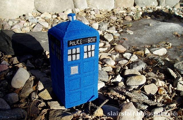 Hand Stitched Felt TARDIS