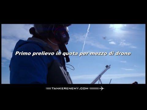TANKER ENEMY PRIMO PRELIEVO IN VOLO TRAMITE DRONE