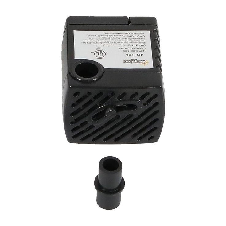 Sunnydaze Submersible Electric Water Pump, 120 Volts, 40 GPH, Black