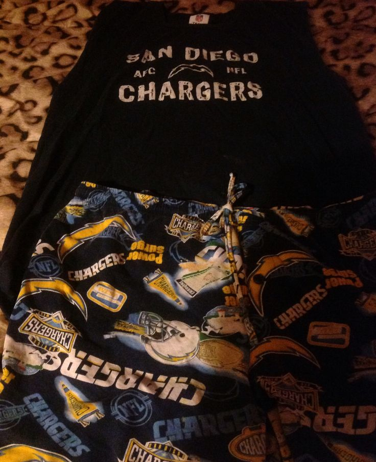 Charger Sleepwear, Dreaming of Bolt Nation and a Super Bowl  win! 🌴💥🎉⚡️