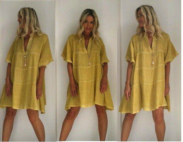 Tunikakleid Aus Leinen Boho Leinenkleid Kleid Leinen Maisgelb Knielanges Kleid Kleid Frauen In Senfgelb Leinenkl Tunika Kleid Knielanges Kleid Leinenkleid