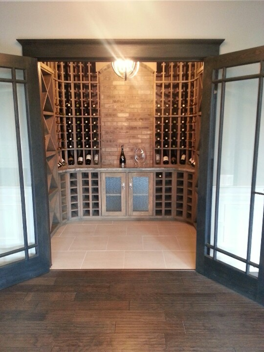 amazing basement wine cellar love the hardwoods and the brick