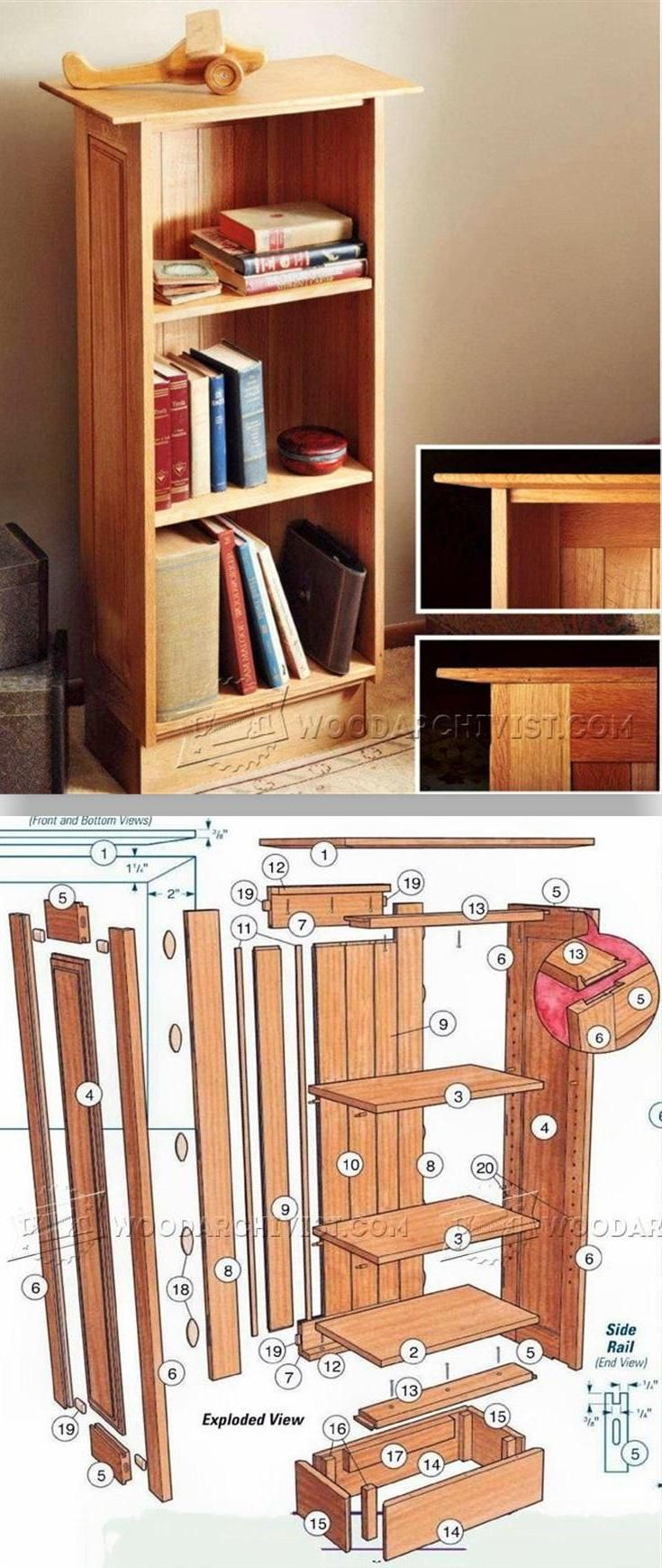 Build a Bookcase Furniture Plans and