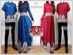 Trend model baju muslim couple lebaran 2015 Cp 64