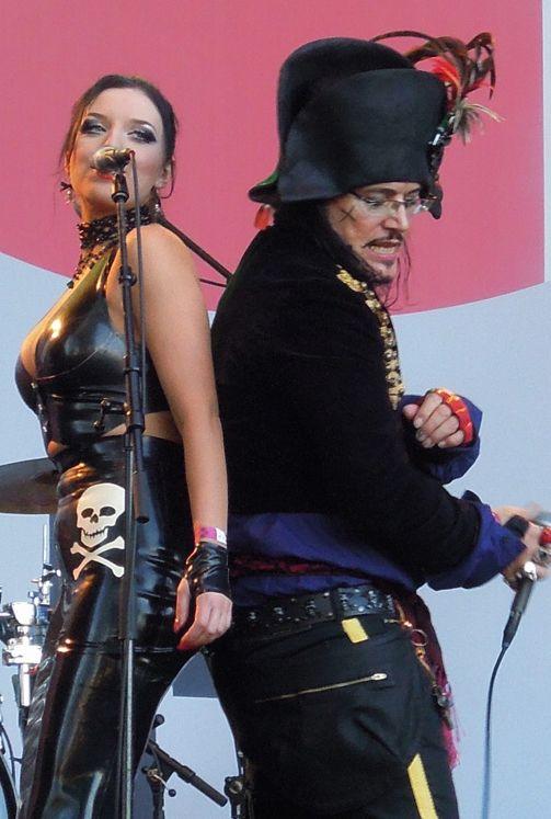 Adam Ant and Georgina Baillie