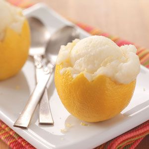 Lemon Sorbet - this is the one I made. Think I may steep the zest in the sugar syrup instead of putting it in. It was good but think I'd enjoy it more without the chewy bits.