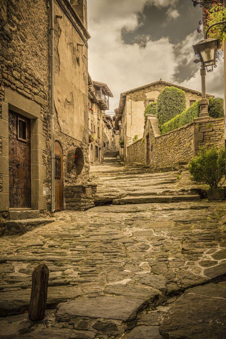 Streets of Rupit, medieval village, Catalonia