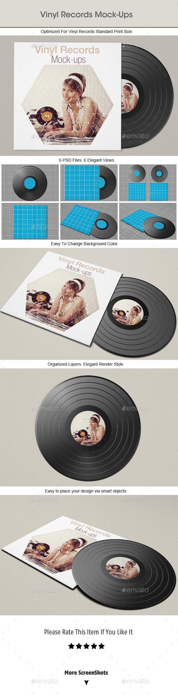Vinyl Record Mockup #design Download: http://graphicriver.net/item/vinyl-record-mockup/14419497?ref=ksioks