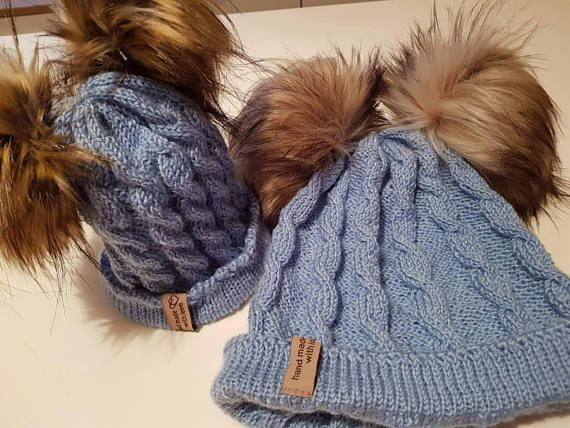 Check out this item in my Etsy shop https://www.etsy.com/listing/573622158/winter-wool-hat-for-mother-and-child