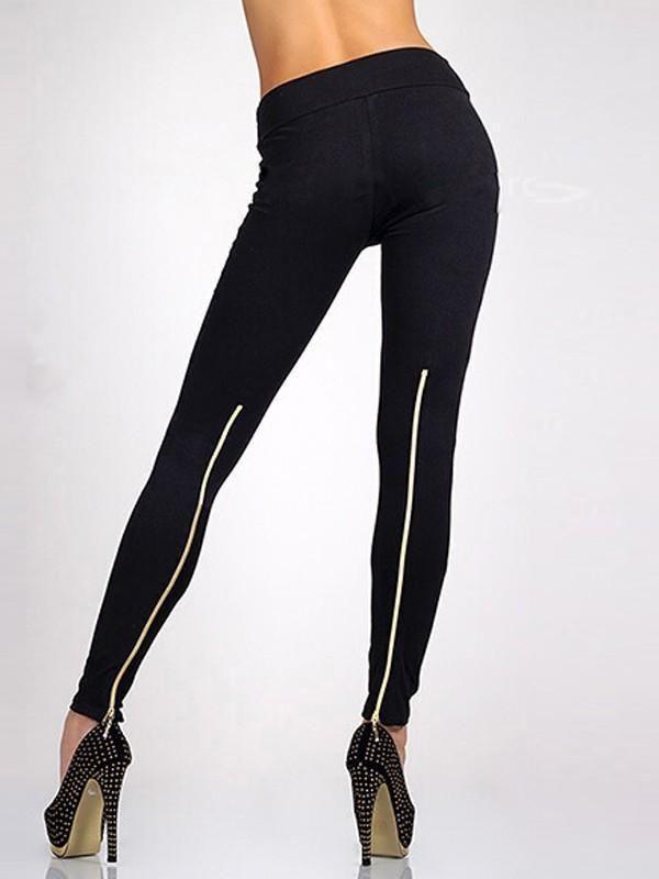 9cef2f8d259da3 New Black Zipper High Waisted Casual Long Legging in 2019 | Products ...