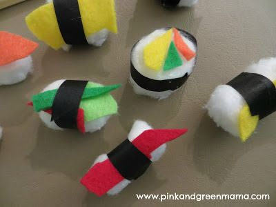 Cotton Ball Sushi Craft