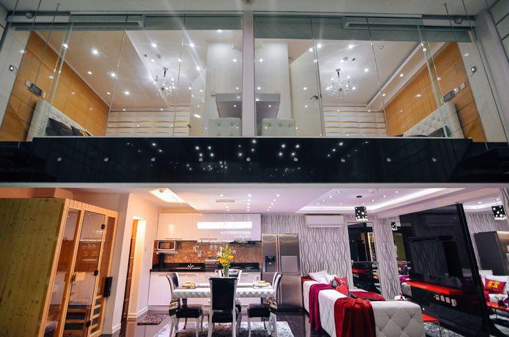 The two story Honeymoon Loft at Luks Loft Hotel and Residences, Batangas City, Manila