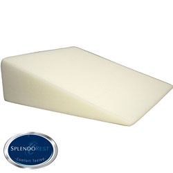 @Overstock - Get a more comfortable nights sleep with this versatile bed wedge pillow. This pillow is made of memory foam and raises your head or legs for elevated support and enhanced circulation. It can be helpful for those with acid reflux or swollen ankles.http://www.overstock.com/Bedding-Bath/SplendoRest-Visco-Elastic-Foam-Firm-Support-Bed-Wedge-Pillow/5901991/product.html?CID=214117 $39.99