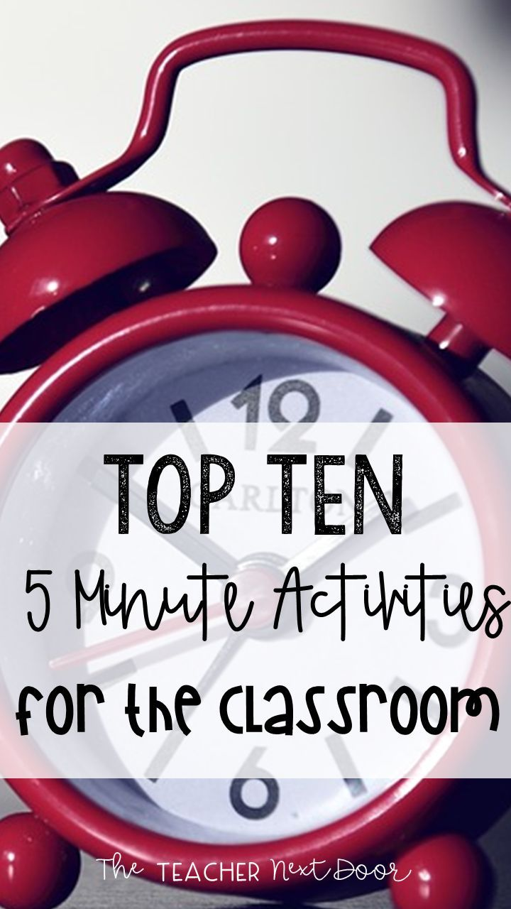 Find ten quick activities for transitions in the classroom in this post!