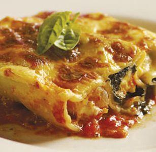 Cannelloni met spinasie, botterskorsie en feta