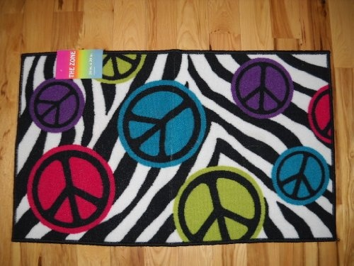 Peace Sign Bedroom Accessories: $34.99 Girls Bedroom Decor Peace Signs With Zebra Stripe