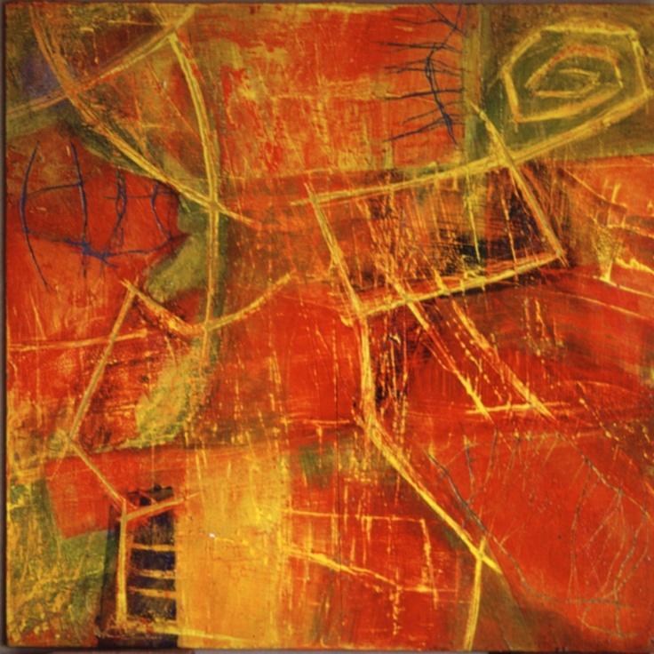serie textil acrilico s madera 35 x 35 cm 2001