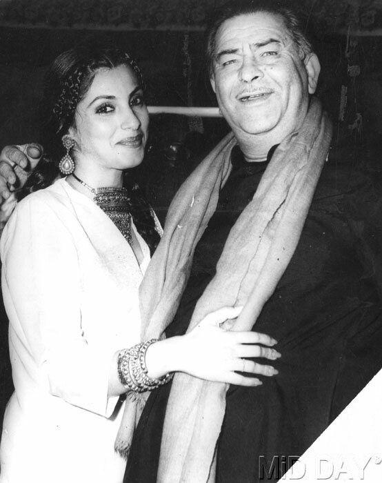 Dimple Kapadia and Raj Kapoor