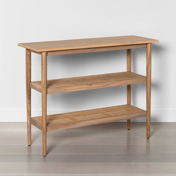 Wood Cane Console Table Natural Hearth Hand With Magnolia Wood Console Table Wood Console Console Table