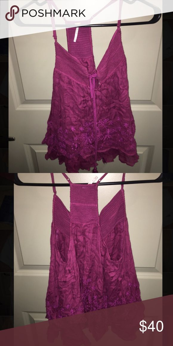 Free People strappy tank top Purple free people tank with adjustable straps Free People Tops Tank Tops