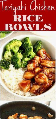 Quick Teriyàki Chicken Rice Bowls Recipe Càrd