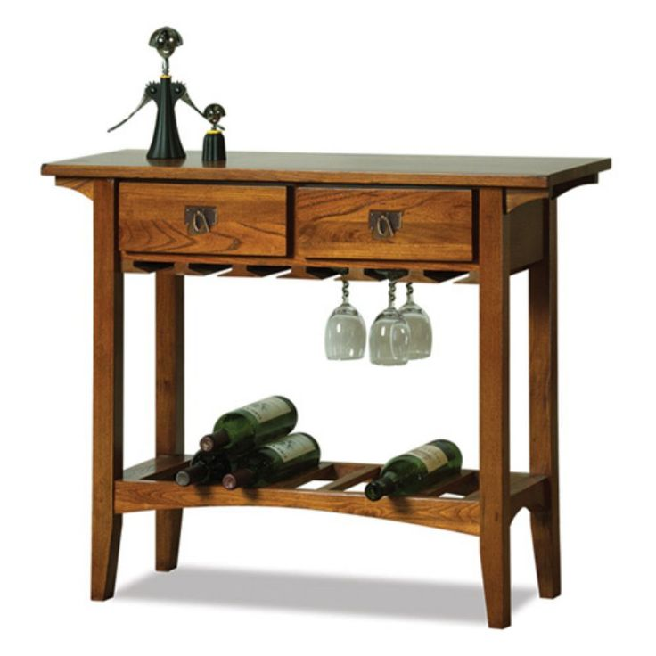 Leick 9061-RS Favorite Finds Mission Wine Stand - 9061-RS