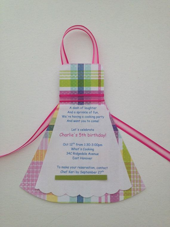 Cooking/Chef Apron Birthday Party Invitation by WriteInvites, $1.25