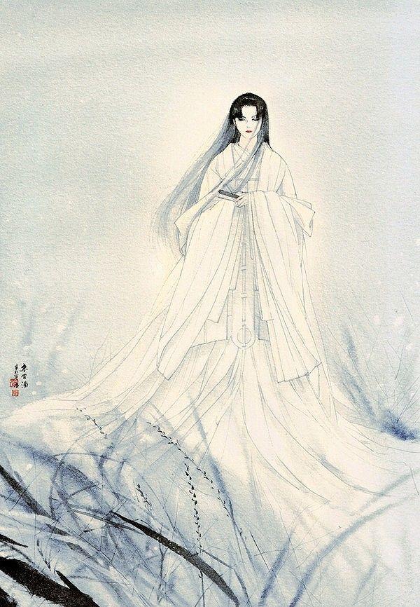 雪女 Yuki-onna snow maiden reference