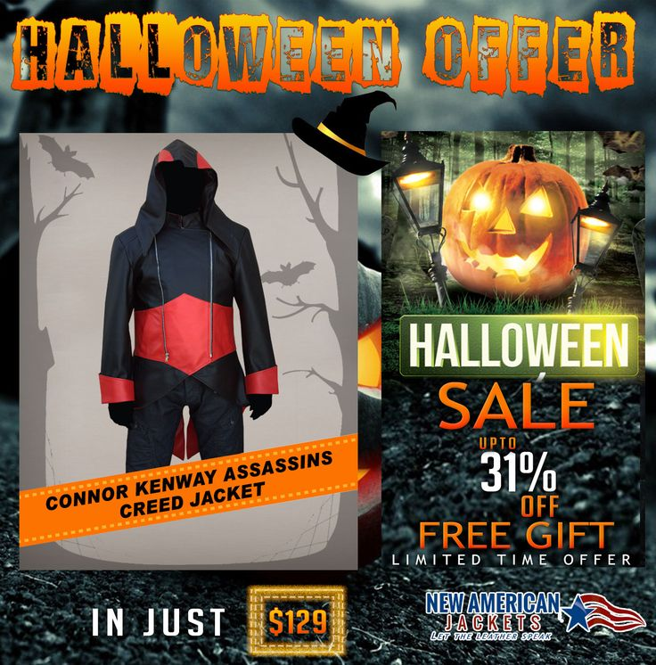 Halloween Clearance Sale! Connor Kenway Assassins Creed Jacket now available in Cotton Fabric at ‪‎NewAmericanJackets‬ Store with up to 30 to 40% discount Price.  Grab now with Free shipping: > ‪#‎ConnorKenway‬ ‪#‎AssassinsCreed‬ ‪#‎HalloweenSale‬ ‪#‎Clearance‬ ‪#‎costume‬ ‪#‎boysFashion‬ ‪#‎halloweencostume‬ ‪#‎halloweenfashion‬ ‪#‎lushoween‬ ‪#‎irememberhalloween‬ ‪#‎maleFashion‬ ‪#‎jacket‬ ‪#‎Celebrity‬ ‪#‎Shopping‬ ‪#‎onlineshopping‬ ‪#‎classy‬ ‪#‎styleatanyage‬ ‪#‎clothes‬ ‪#‎gentleman‬…