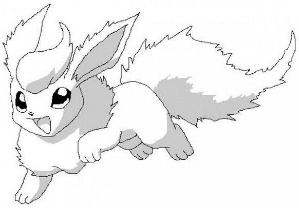 Pokemon Flareon Coloring Pages Printable Pokemon Coloring Pages