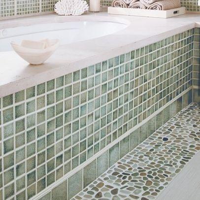 Modern Bathroom Tile, I like the pebble look on the floor.