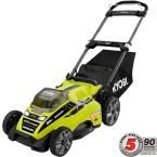 Ryobi Ryobi 20 in. 40-Volt Brushless Lithium-Ion Cordless Battery Push Mower with 5.0 Ah Battery RY40180 at The Home Depot - Mobile