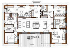 Bungalow-Grundriss 165 m² ideal für Sie? Wie Sie einen Fertighaus Bungalow bauen, der Sie glücklich macht. Anleitung für Bauherren, die selbst entscheiden!