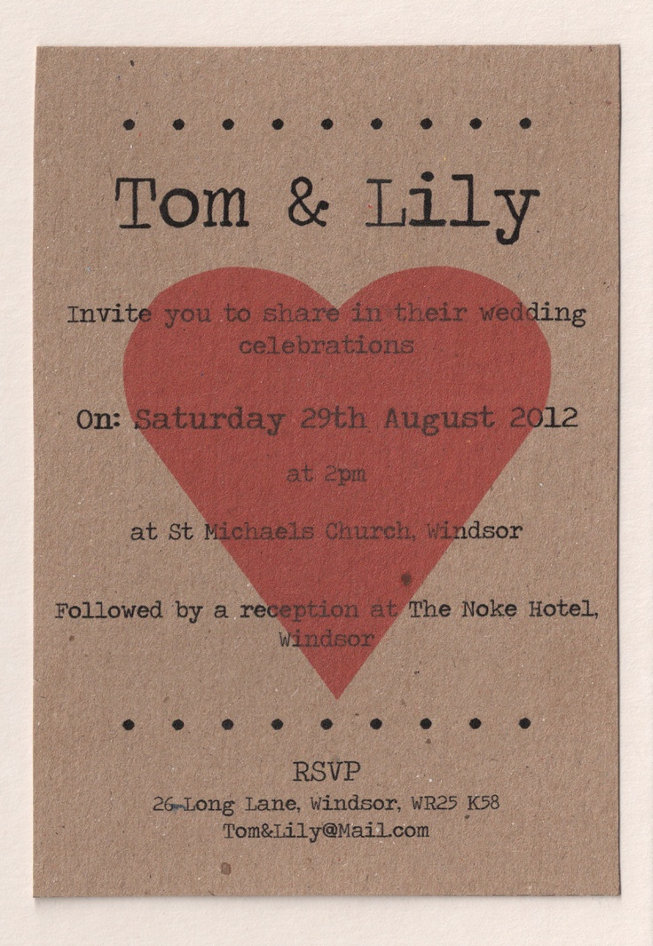 wedding invitation email free%0A    x Personalised Vintage Love Heart Wedding InvitationsShabby  ChicRecycled