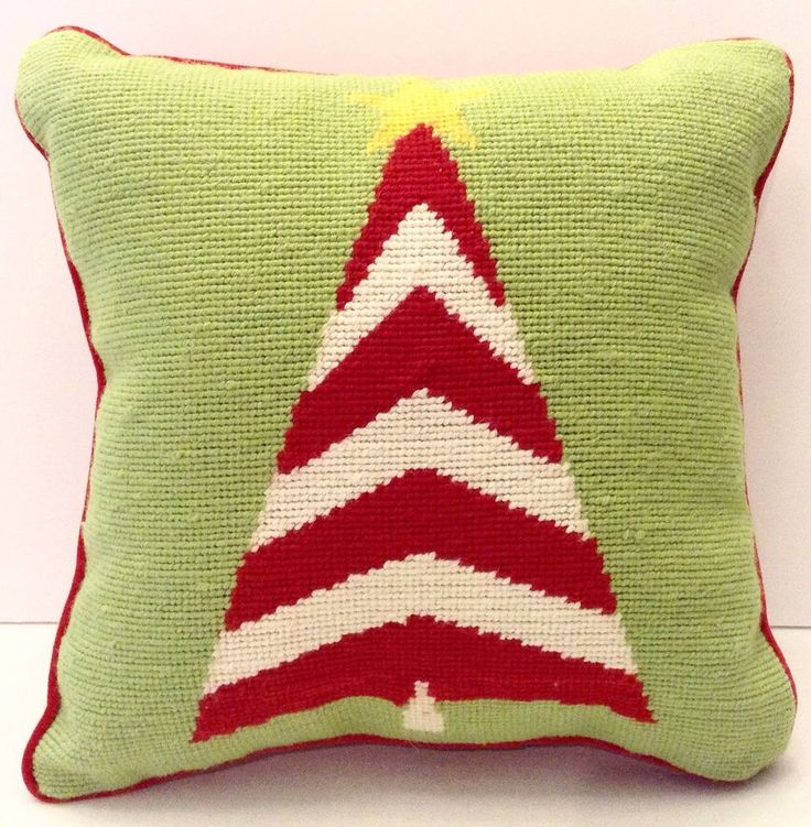 Needlepoint Pillow Decoration Crossword : Needlepoint Christmas Tree Pillow Decoration Trees, Christmas trees and Decoration