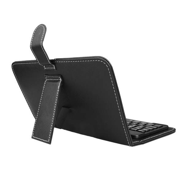 US Direct   Universal Wireless Bluetooth Keyboard Holster Flip PU Case Cover For Cellphone i