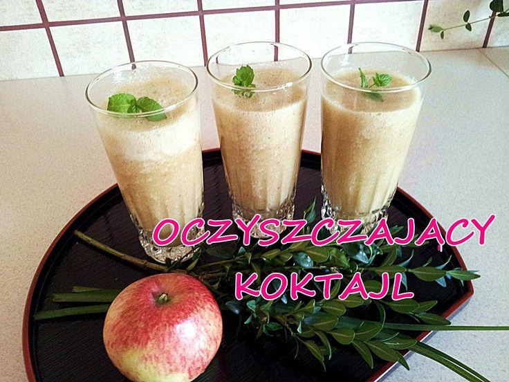 Odchudzający oczyszczający koktajl sok jabłkowy Dieta Okinawa Cud Okinaw...