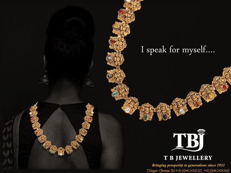 Antique Lakshmi Navarathna Necklace #tbjewellery #Goldenmoments #diamond #gold#girlslovediamond #jewellery #Navarathna #antique#necklace #22kt #916