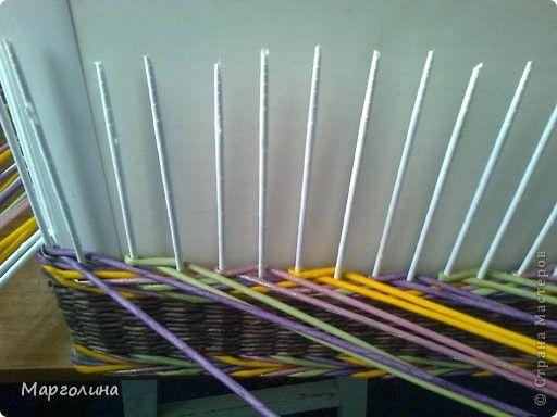 Поделка изделие Плетение Мк цветные ажурные колонны Бумага газетная фото 2