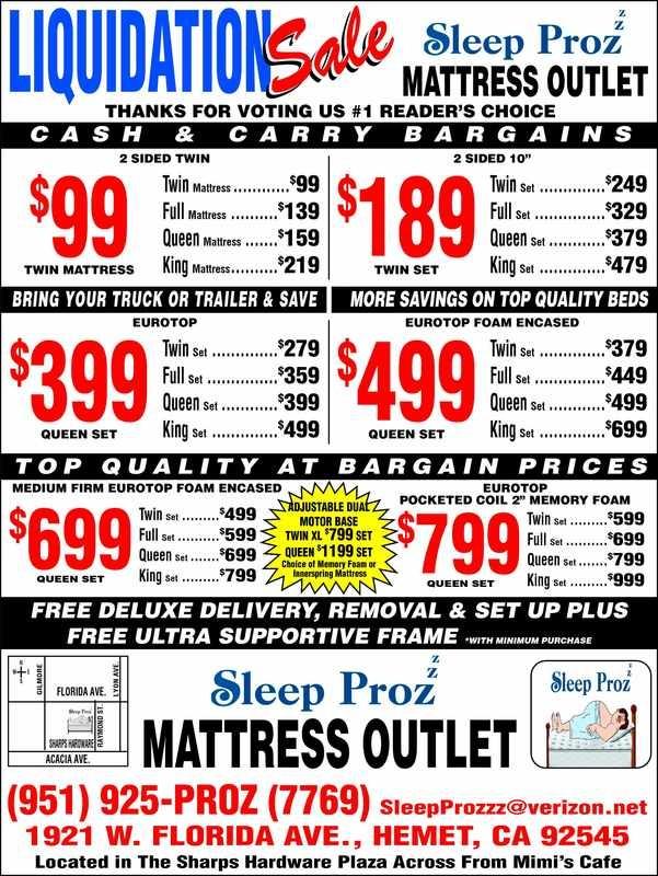 sleep prozzz liquidation sale ad our best mattress deal two sided twin mattress 99
