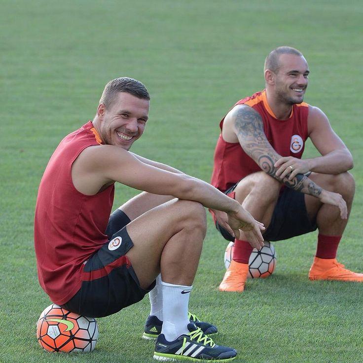 Lukas Podolski & Wesley Sneijder #Training #Galatasaray