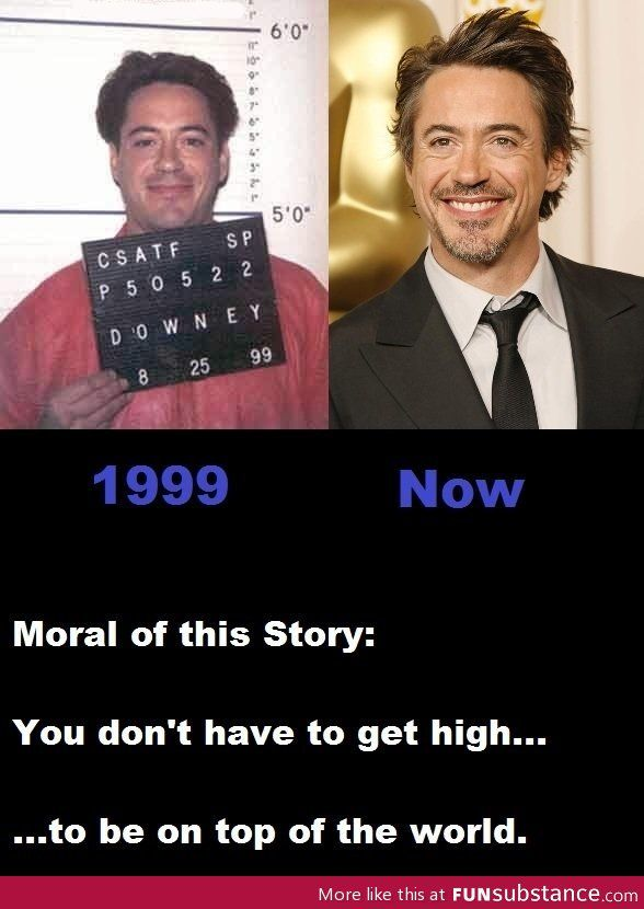 Robert Downey Jr. - Proof that you can turn your life around no matter how bad it gets.