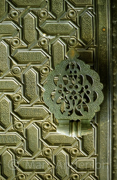Moorish antique door, Spain detail
