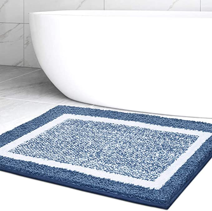 Amazon Com Bathroom Rug Mat Ultra Soft And Water Absorbent Bath Rug Bath Carpet Machine Wash Dry For Tub Shower And Bath Roo In 2021 Bath Rug Bathroom Rugs Rugs