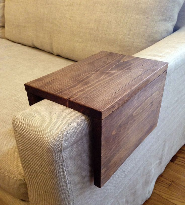 Wood Couch Arm Shelf – Large | Shut down that TV time drink spillage with this